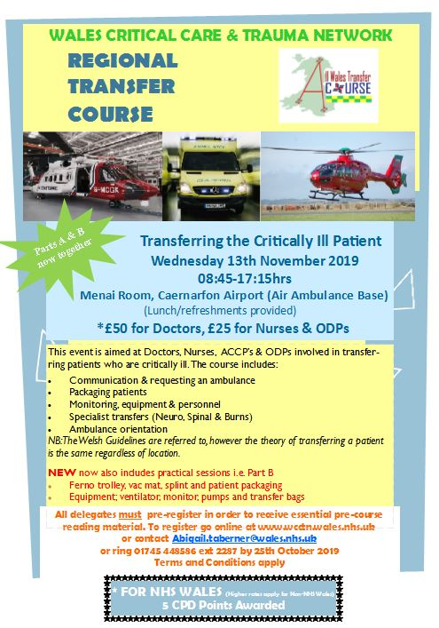 Wales Critical Care & Trauma Network | All Wales Critically